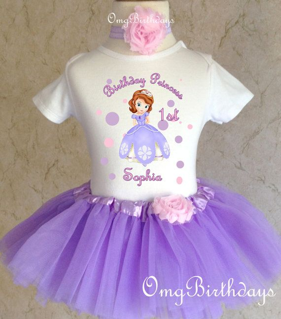 Sofia the First***With NAME***1st First Birthday Purple Tutu Dress Fast Shipping