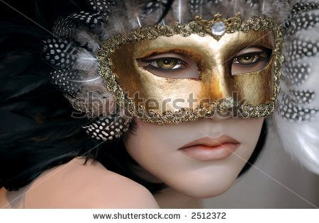 stock photo  Beautiful Store mannequin with a mask on Inspiration - different halloween costume ideas