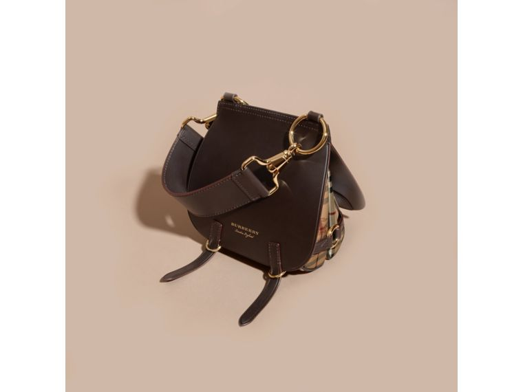 257d7fdf46b9 BURBERRY THE BRIDLE BAG IN LEATHER AND HAYMARKET CHECK.  burberry  bags   polyester  crossbody  leather  lining  shoulder bags  pvc  cotton