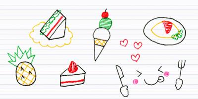 9 好きな食べ物を描こう ボールペンで描くプチかわいいイラスト練習