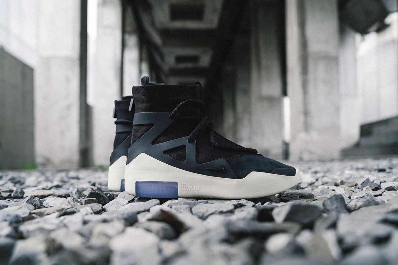 84de6d09f5eda6 Nike Air Fear of God 1 Sneakers Closer Look Jerry Lorenzo Shoes Trainers  Kicks Footwear Cop Purchase Buy Release Date Details Soon