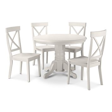 plantation cove white dining room 5 pc dinette value city furniture