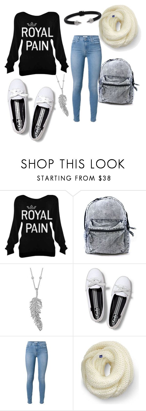 """""""College"""" by alinesantos16 ❤ liked on Polyvore featuring Penny Preville, Keds and Vita Fede"""