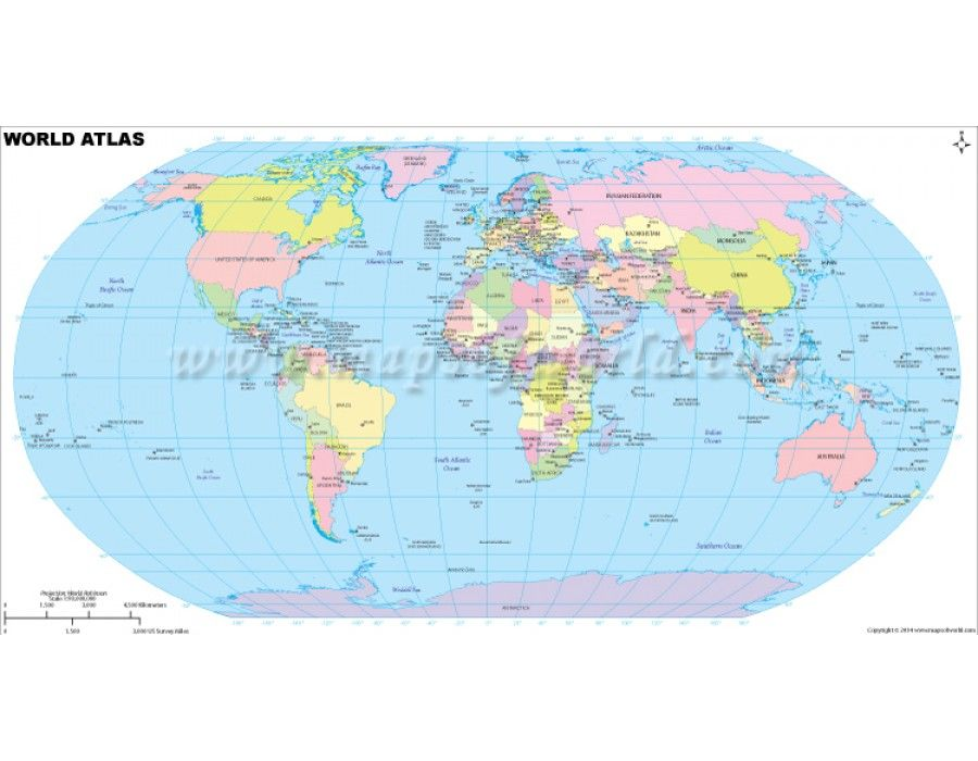 Buy World Atlas Map Online - World maps online