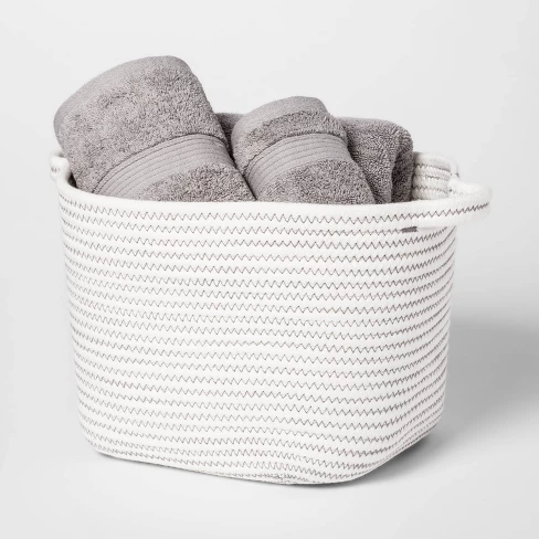 Towels In A Basket Casual Home How To Roll Towels Bathroom Styling