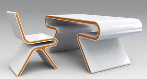 Moderne Schreibtische futuristischer schreibtisch omega h o l o g r a m t a b l e