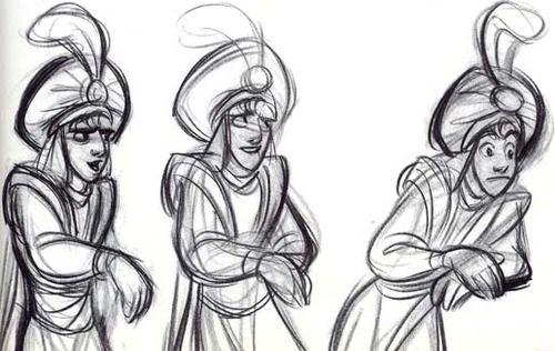Aladdin disney concept art dessin disney dessins disney animation et dessin - Dessiner aladin ...
