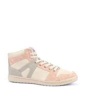 Pale Pink and Cream Hi-Tops