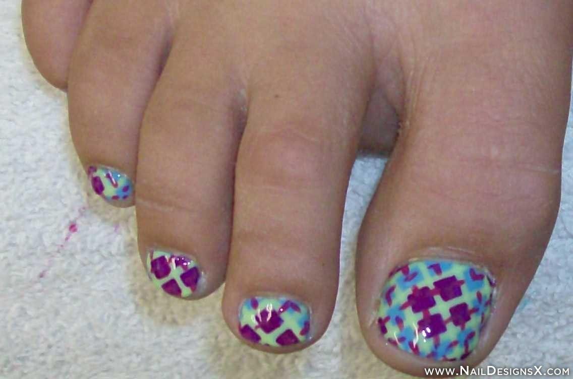 abstract toe nail design » Nail Designs & Nail Art