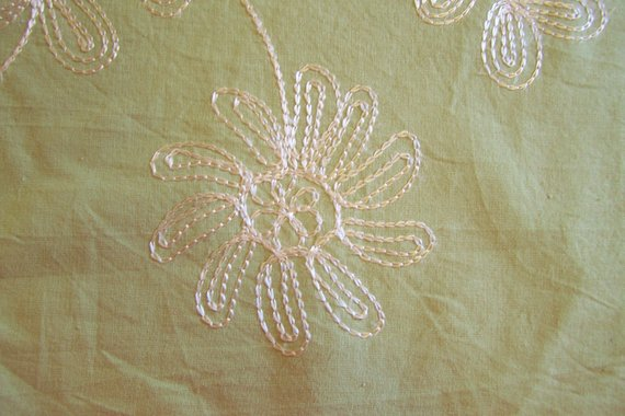 Mint Green Embroidered Upholstery Drapery Fabric By The Yard 54