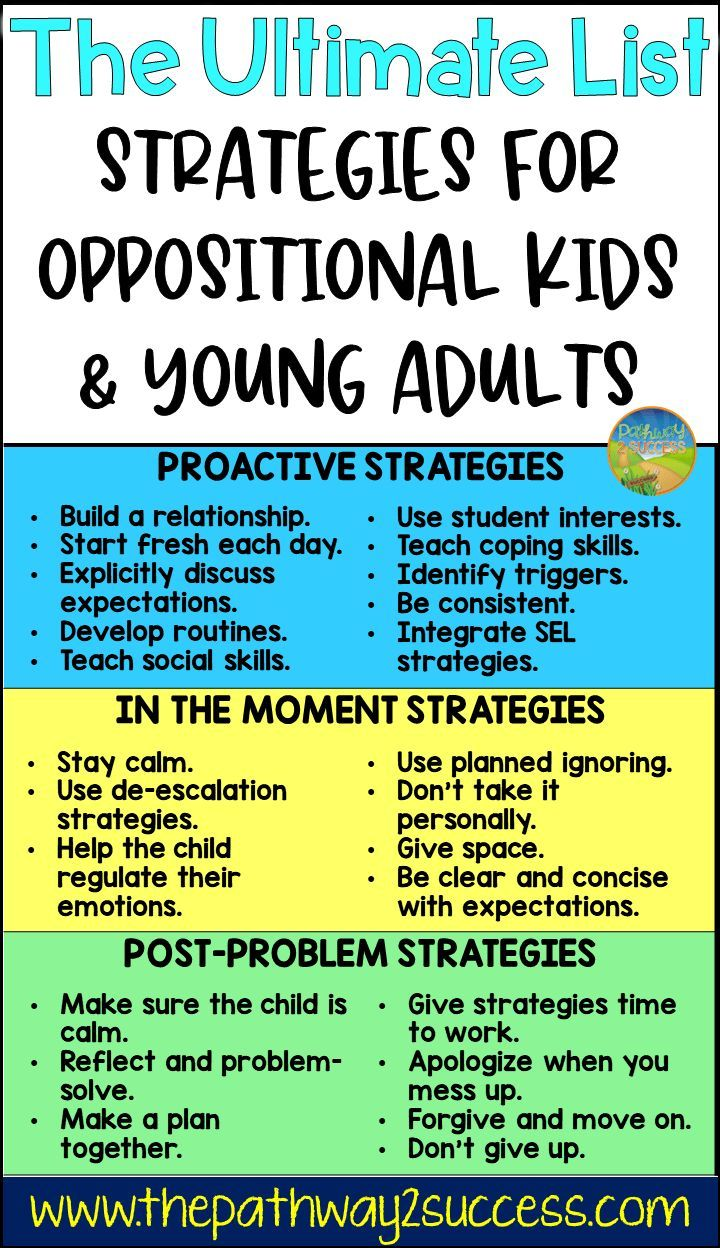 Strategies for Oppositional Kids in 2020 With images ...