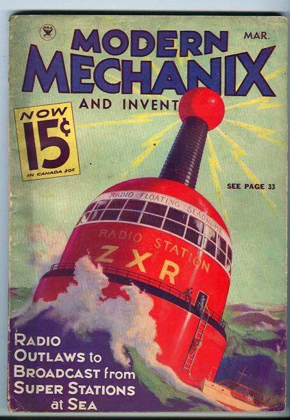 Modern Mechanix and inventions magazine   Retro futurismo   #Covers #Hobbies #30s #40s   http://defharo.com