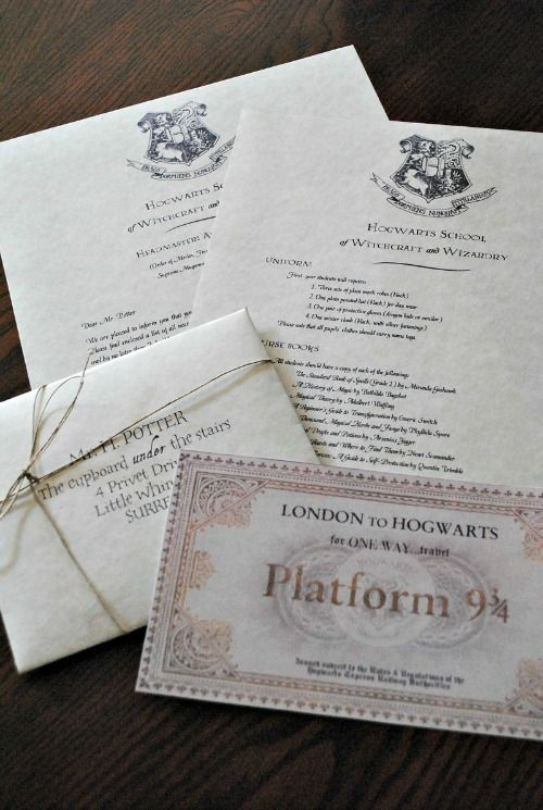 Diy Instructions. How To Make A Hogwarts Acceptance Letter. Very
