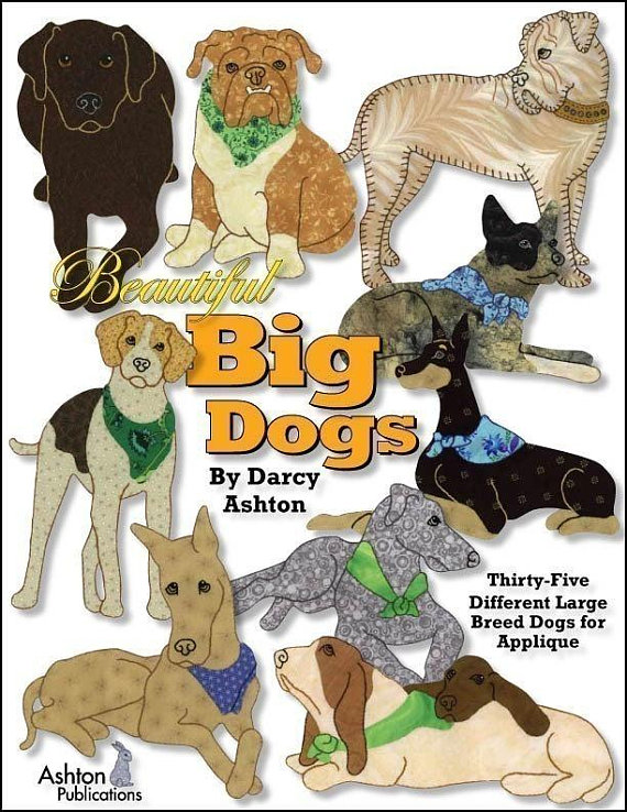Quilt Book Beautiful Big Dogs 35 Different Large Breed Dog