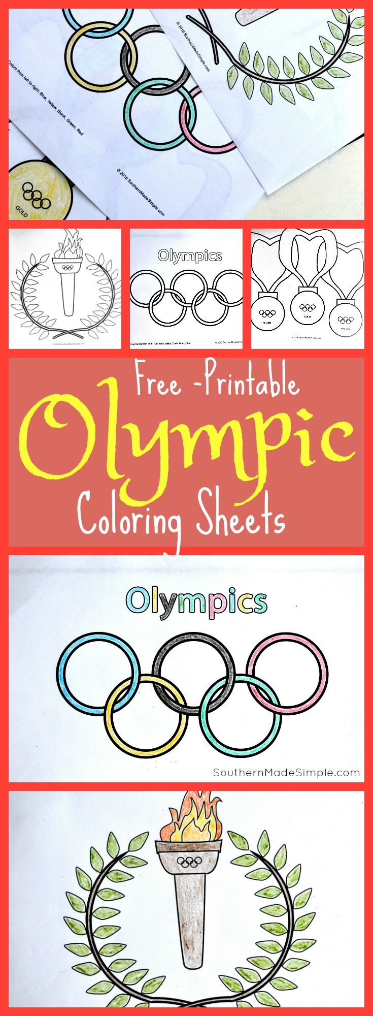 4 Ways To Celebrate The Olympics With Kids Free Coloring Sheets Southern Made Simple Olympic Games For Kids Olympic Crafts Free Kids Coloring Pages [ 2000 x 735 Pixel ]