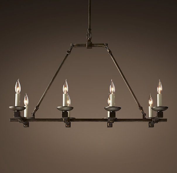 Cabot 36 Iron Chandelier Simple Rustic Option For Lighting In The Dining Room