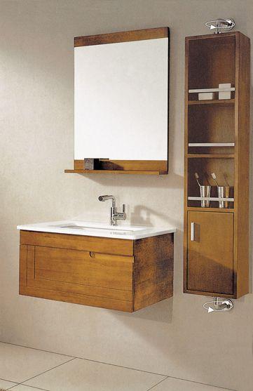 Gold Brown Sliding Door Bathroom Vanity Cabinet White Bathroom