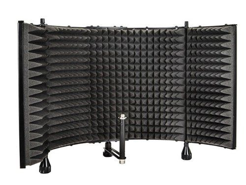 Monoprice Pro Audio Desktop Adjustable Acoustic Microphone Isolation Shield #deals