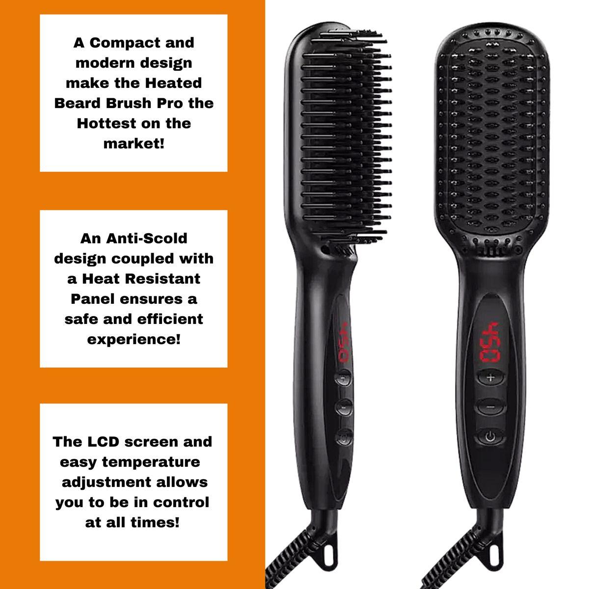 Heated Beard Brush Pro in 2020 Beard straightening
