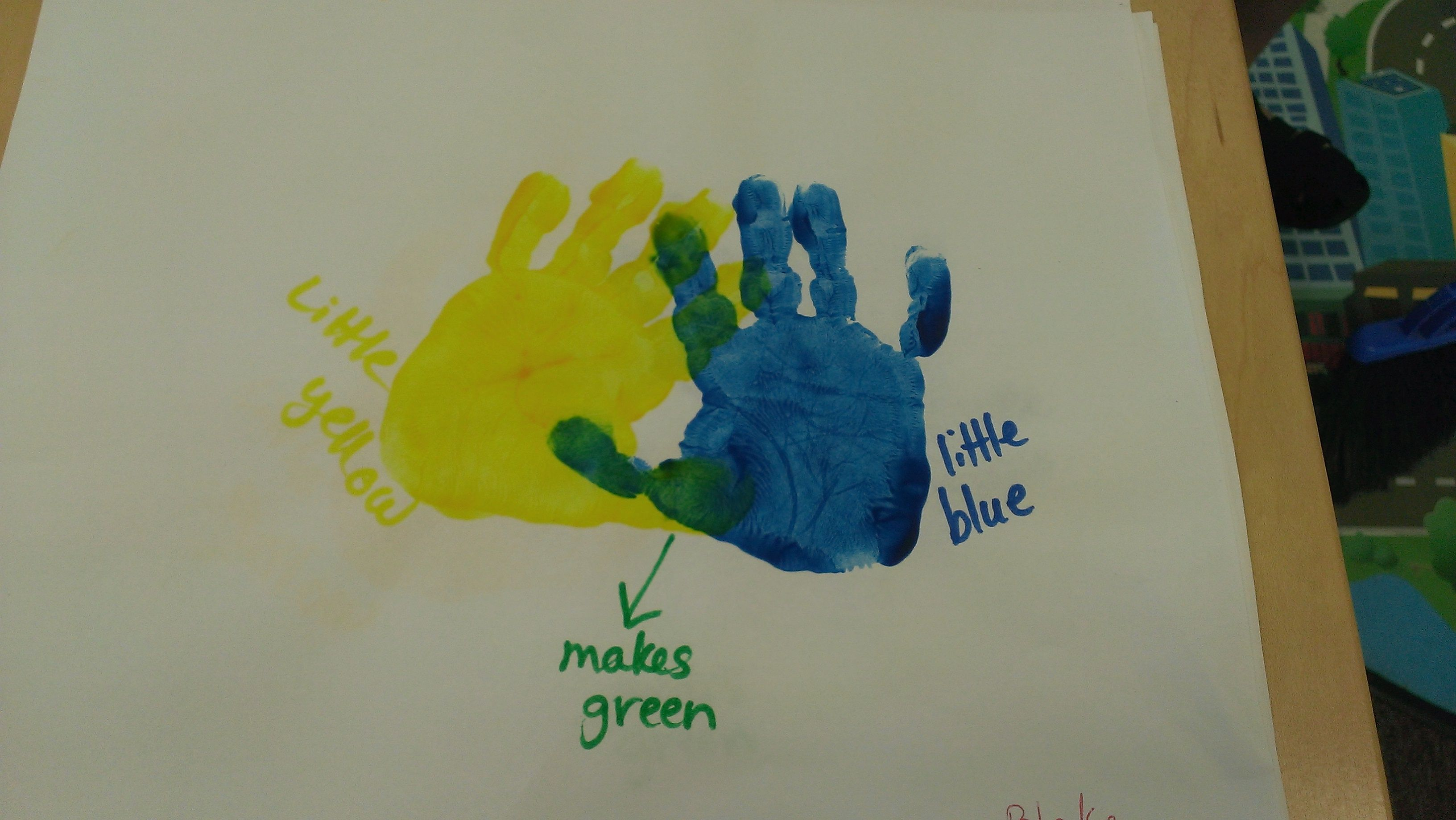 Learning colors! A fun way for the kids and then a great picture for the parents to frame!   Love those tiny hands!!! :)