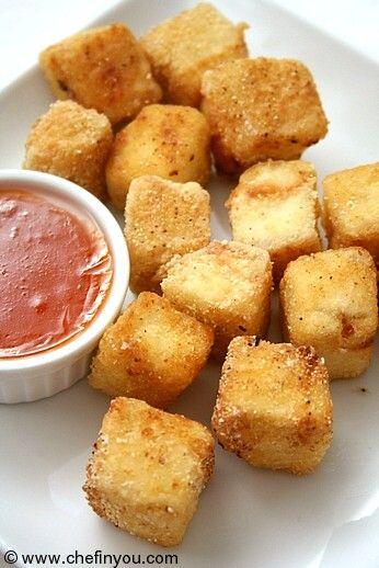 Chinese Crispy Fried Tofu with Sweet Chili Sauce Recipe #friedtofu