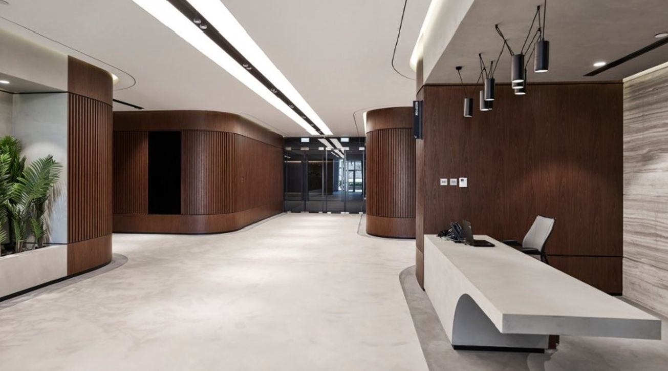 Swiss Bureau Interior Design Natural Materials Minimal Interiors Wood Concrete Minimalism Interior Materials Board Interior Design Family Living Rooms