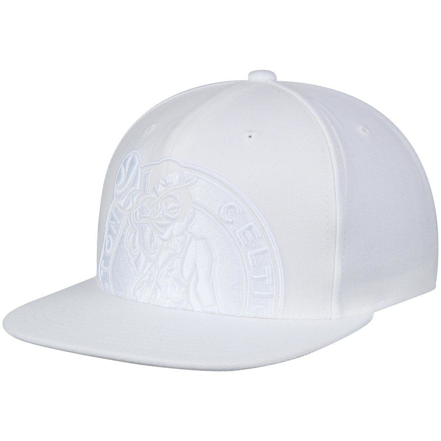 free shipping a8d5c ed8c1 ... store mens boston celtics mitchell ness white cropped xl logo snapback  adjustable hat your price 7eebc