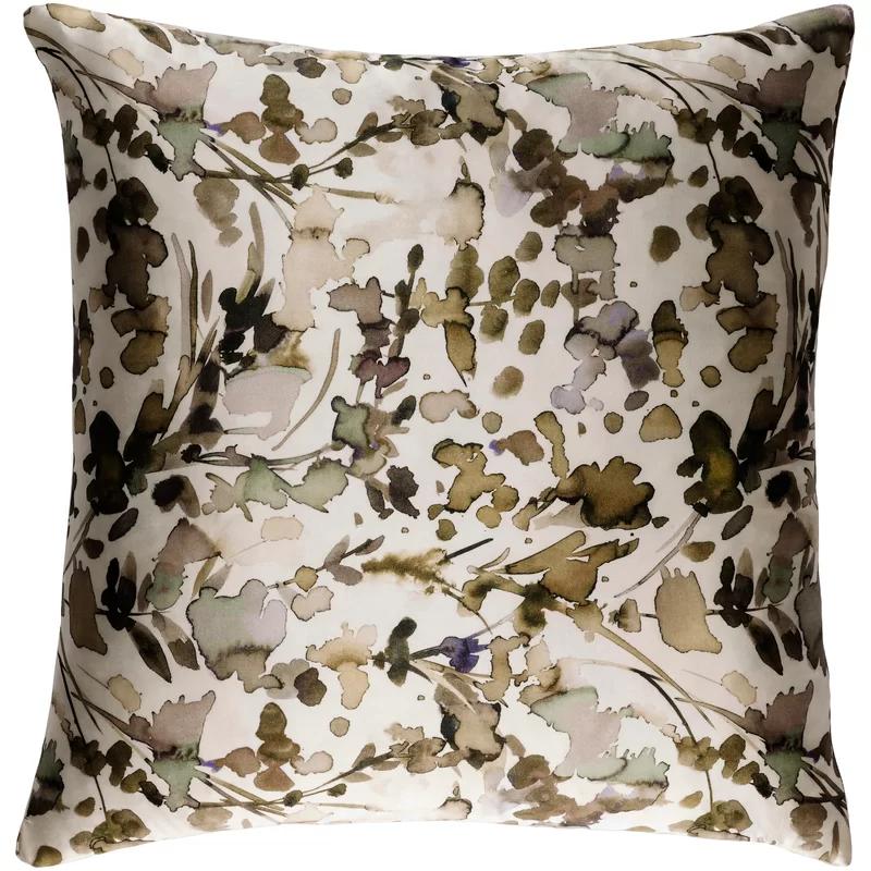 Naida Silk Floral Throw Pillow Throw Pillows Silk Throw Pillows Silk Pillow Cover
