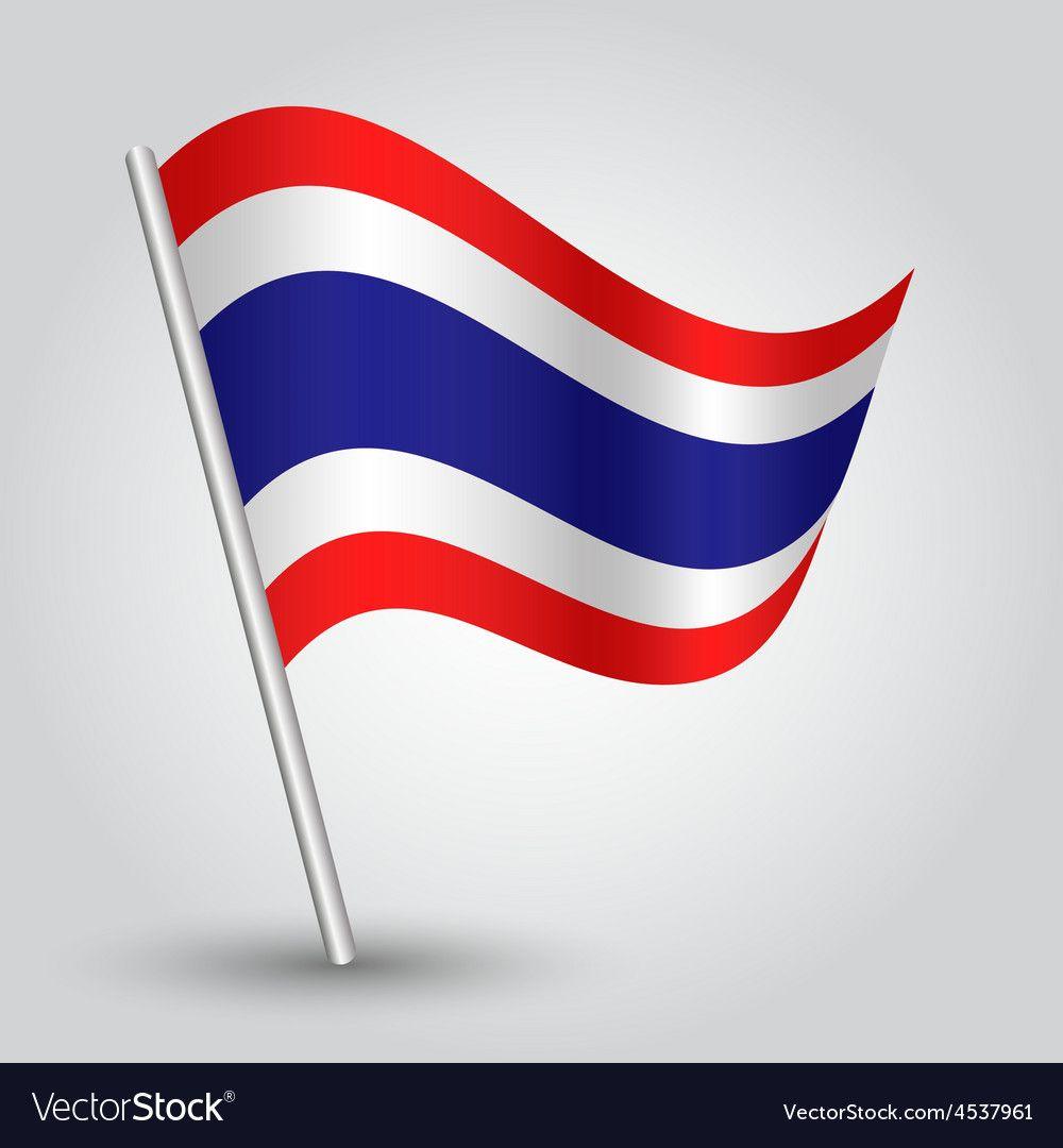 Flag thailand vector image on ศิลปะ, ไทย