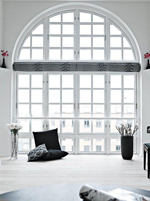pretty loft windows in my place in the city