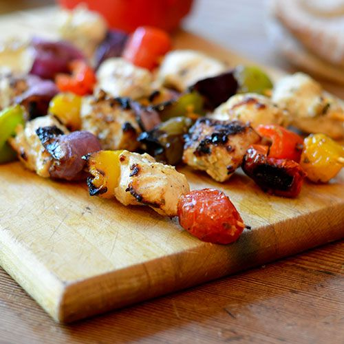Greek Chicken Kabobs from Feed Your Soul Too