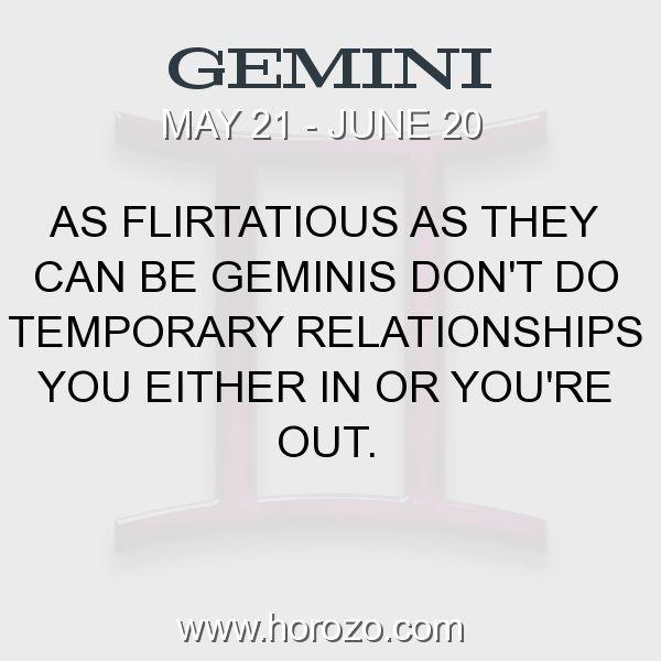 Gemini flirtatious