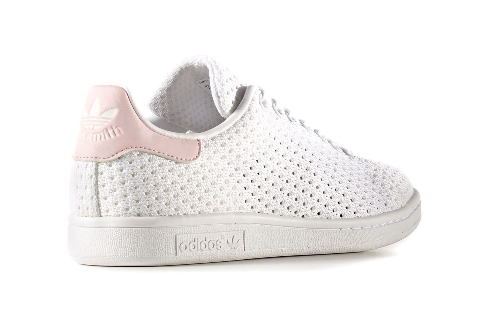 outlet store 2ca1f 6ce3e The Heel on the adidas Stan Smith Is Dipped in Baby Pink and ...