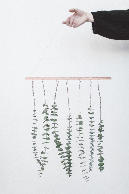 DIY: Hängender Eukalyptus #pflanzenimschlafzimmer