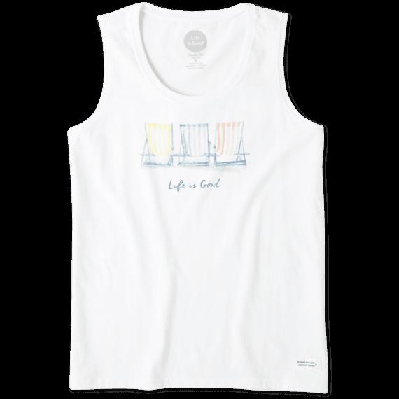 754f69de903 Women s Beach Chairs Watercolor Sleeveless Crusher Scoop