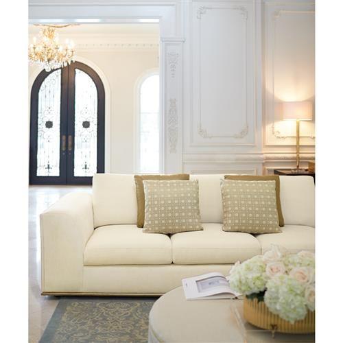 Luna Modern Classic Matte Gold Ivory Sofa In 2020 Mint Green Bedroom Modern Classic Furniture Contemporary Modern Furniture