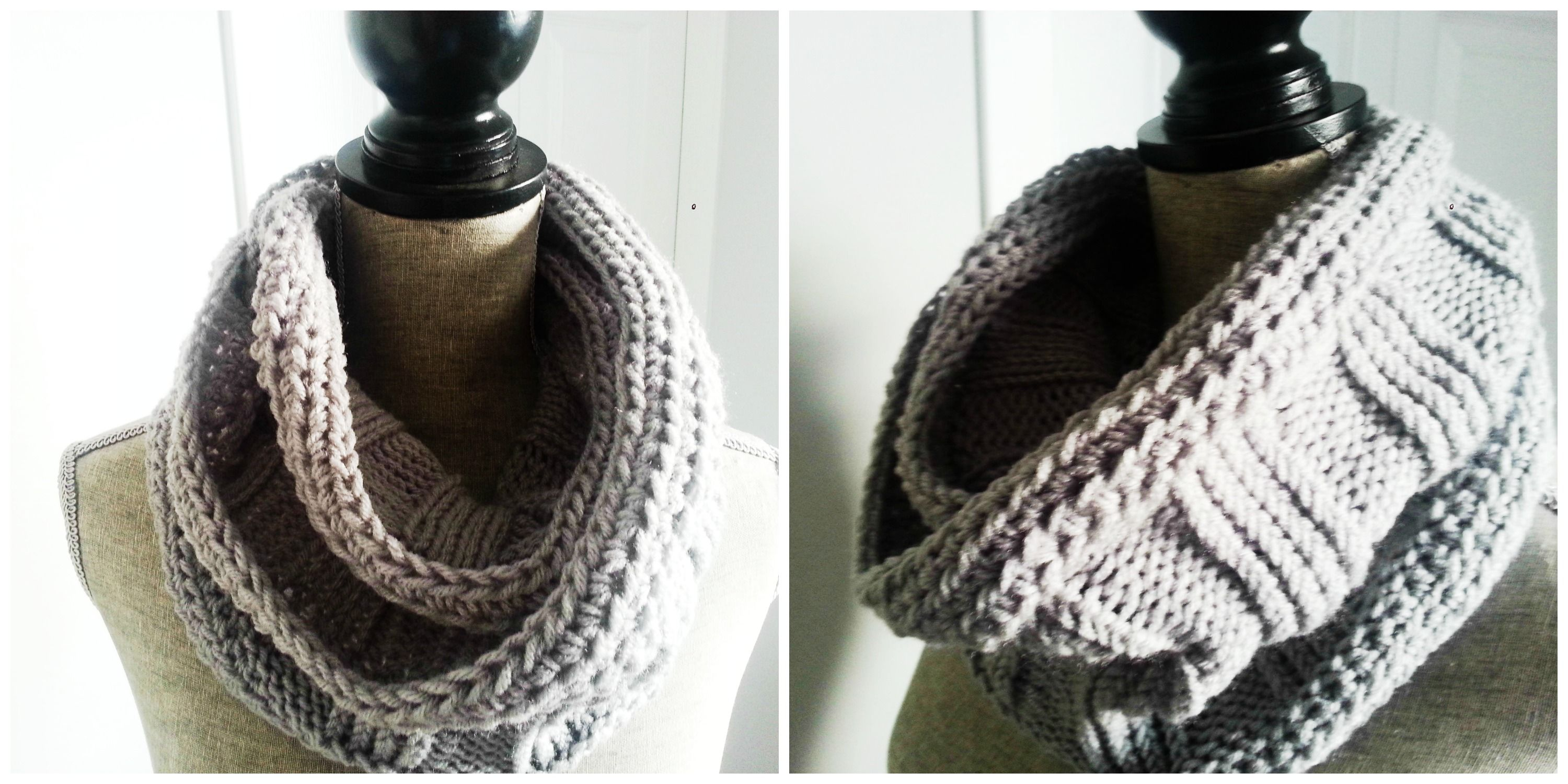 Ribbed Knit Infinity Scarf Pattern | Infinity scarf ...