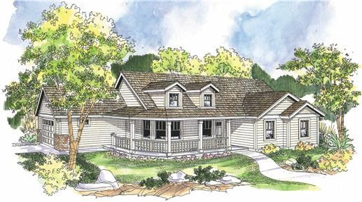Country Farmhouse Home with 3 Bdrms 1506 Sq Ft