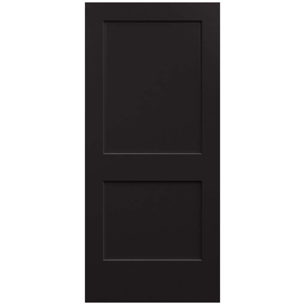 Jeld Wen 36 In X 80 In Smooth 2 Panel Black Solid Core Molded