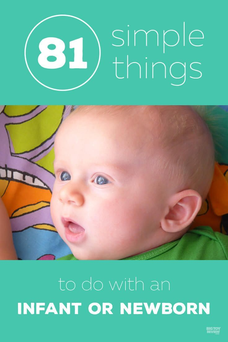 81 Things to Do With an Infant or Newborn | Infant ...