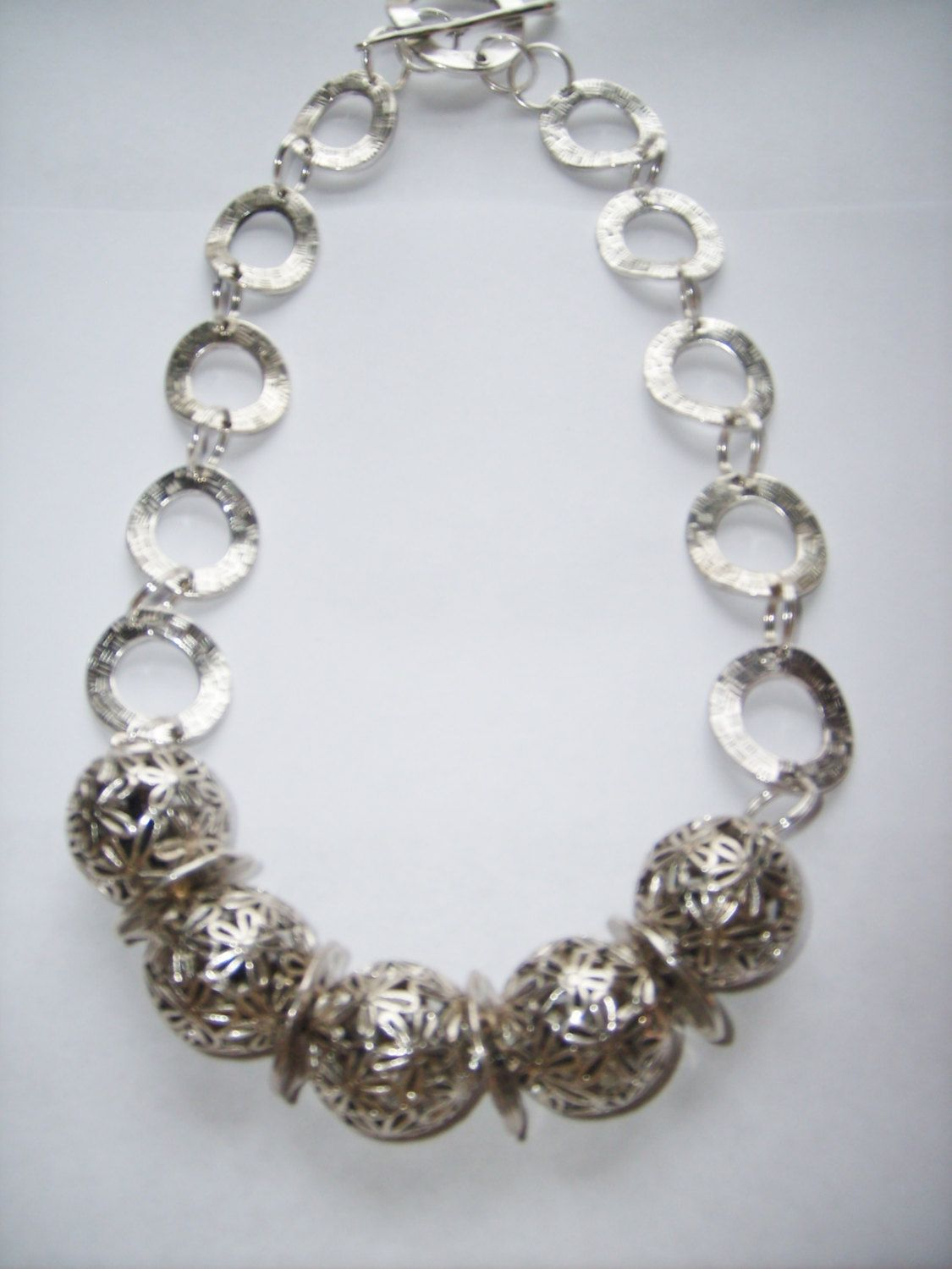 Silver Pewter Necklace. $85.00, via Etsy.