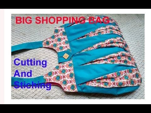 8a0cd778bae7 EASY.... handmade big shopping bag   lunch bag  handbag cutting and  stitching in hindi  Travel Bag - YouTube
