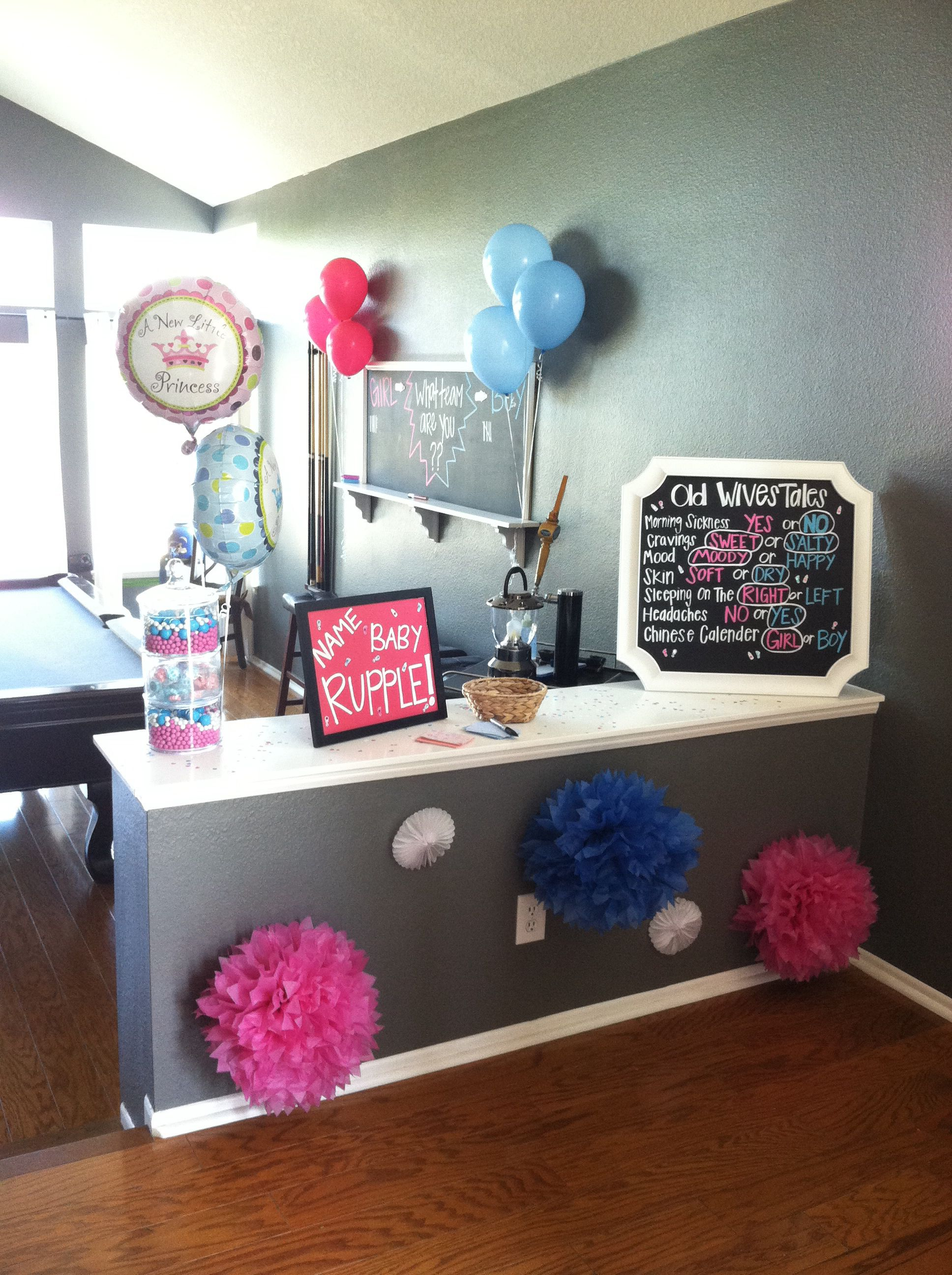 Gender reveal party | party ideas | Simple gender reveal ...