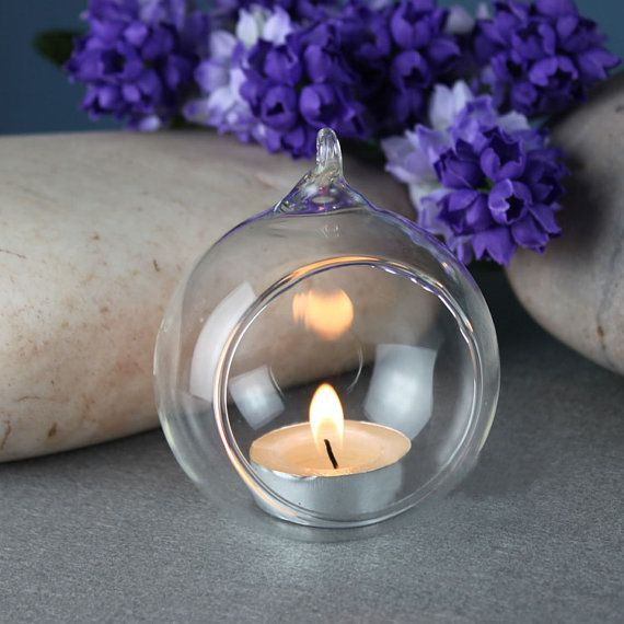 3 25 glass hanging bubble candle holders 25 glass by