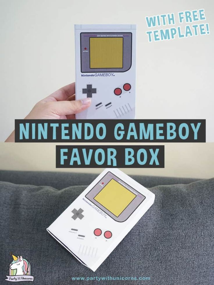 Nintendo Favor Box Classic Gameboy Template Nintendo Party