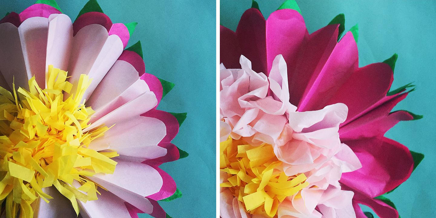 How to make a tissue paper flower a dazzling tutorial tissue how to make a tissue paper flower a dazzling tutorial mightylinksfo Images