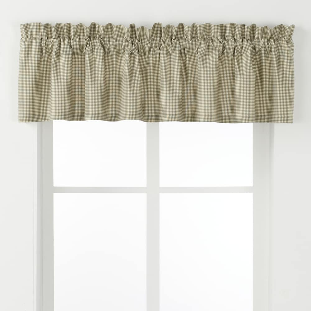 Ellis Curtains Logan Check Window Valance 70 X 12 Green