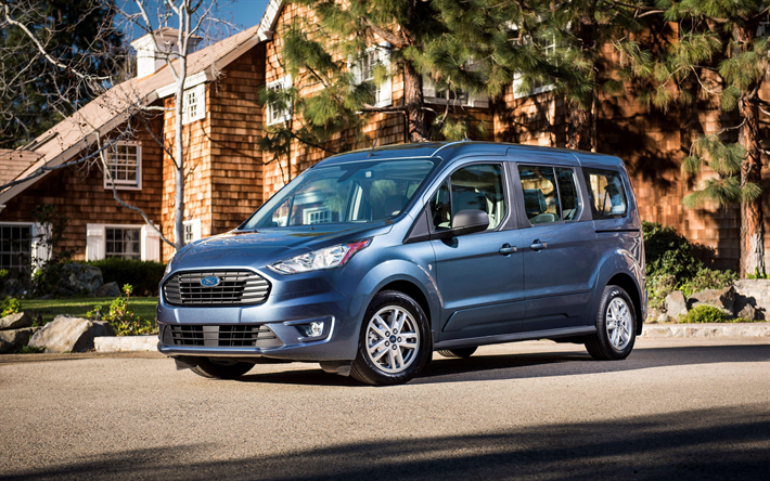 Download Wallpapers Ford Transit Connect 4k 2018 Cars Compact