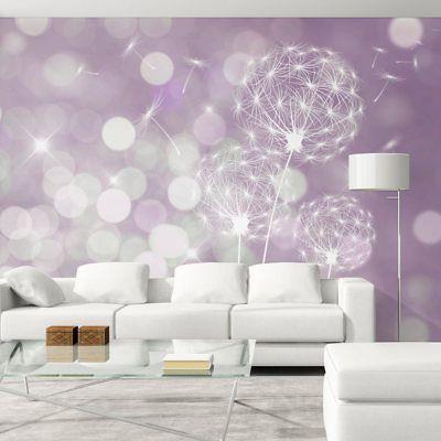 Details zu Vlies Fototapete Pusteblume Tapete bokeh Wandbilder Natur - wandgestaltung mit drei farben