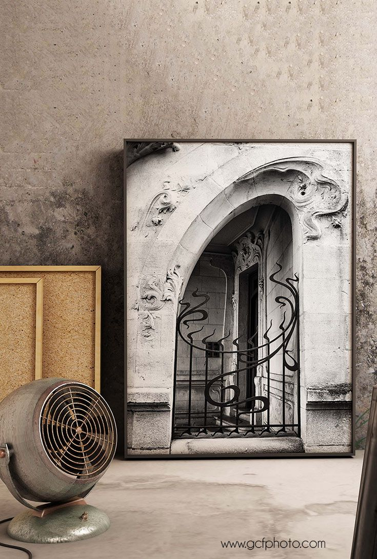 Hallway door options  Black u White Art for entry wall decor or hallway art Art Deco
